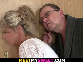 Guy finds his Girlfriend gets fucked by old parents