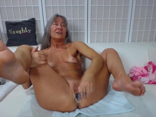 Horny old squirter Leilani around pithy cherries with the..